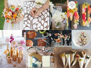 Copper Butterfly wedding